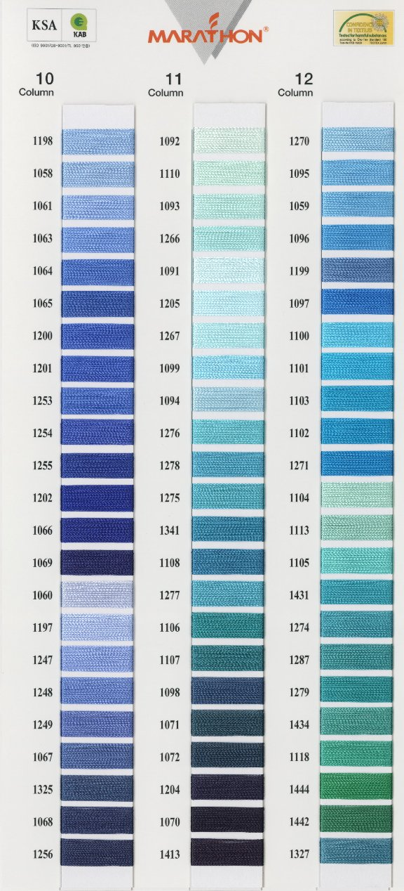 1043 Madeira Rayon Embroidery Thread 1100yd Spool BLUE Color